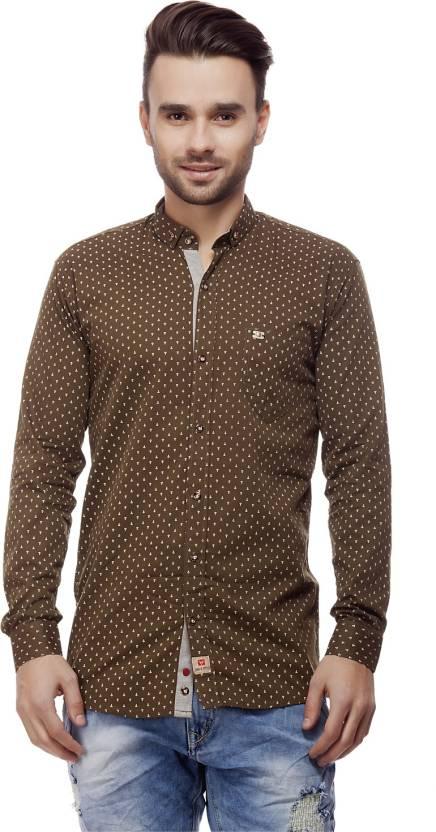 d090c263bed5 jimmy and jordan Men s Printed Casual Brown Shirt - Buy Brown jimmy and  jordan Men s Printed Casual Brown Shirt Online at Best Prices in India