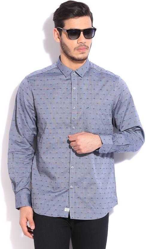 e54062c496 Indigo Nation Street Men s Self Design Casual Grey Shirt - Buy GREY Indigo  Nation Street Men s Self Design Casual Grey Shirt Online at Best Prices in  India ...