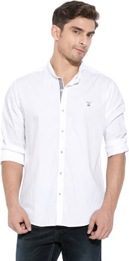 ae63a0d42a Mufti Men's Solid Casual White Shirt - Buy White Mufti Men's Solid Casual  White Shirt Online at Best Prices in India | Flipkart.com
