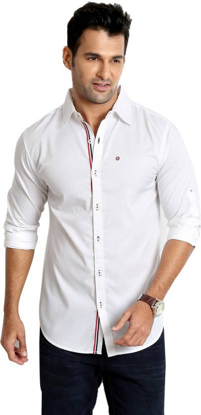 Minimum 50% Off on Winter wear By Flipkart | Rodid Men's Solid Casual White Shirt @ Rs.510