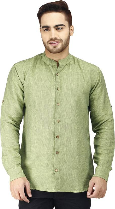 83ee664bf0fe63 Parkland Men s Woven Casual Green Shirt - Buy Green Parkland Men s Woven  Casual Green Shirt Online at Best Prices in India