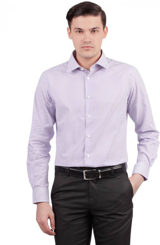 17706e2cb15 Esprit Men s Striped Formal Purple