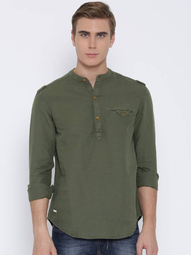 15cbab57c5 Numero Uno Men s Solid Casual Green Shirt - Buy Olive Numero Uno Men s  Solid Casual Green Shirt Online at Best Prices in India
