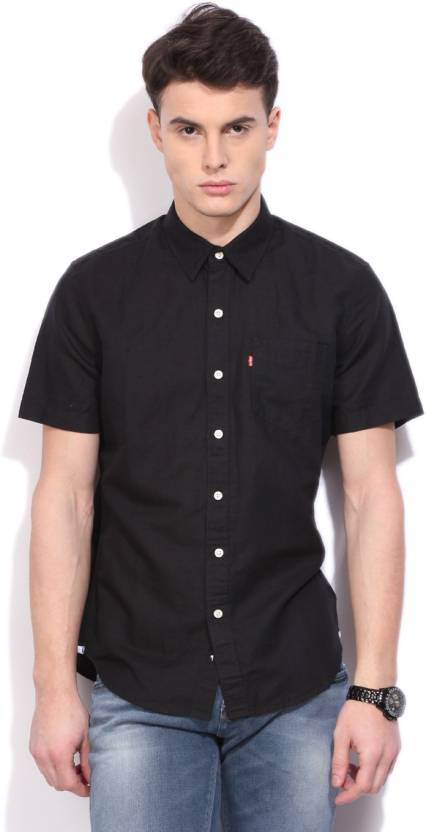 b284a4e3003 Levi s Men s Solid Casual Black Shirt - Buy Black Levi s Men s Solid Casual Black  Shirt Online at Best Prices in India