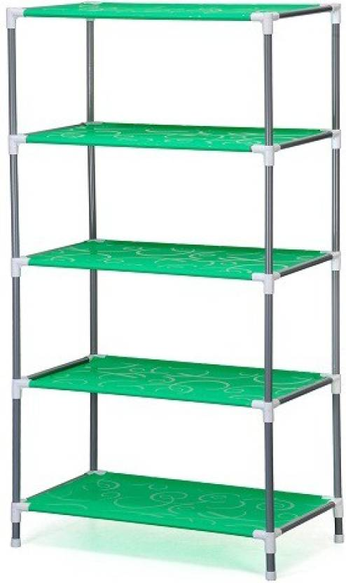 Blessed Metal Collapsible Shoe Stand(Multicolor, 5 Shelves)