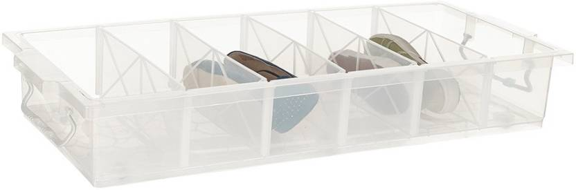 Howards Underbed Box With Wheels Plastic Shoe Stand Price In India