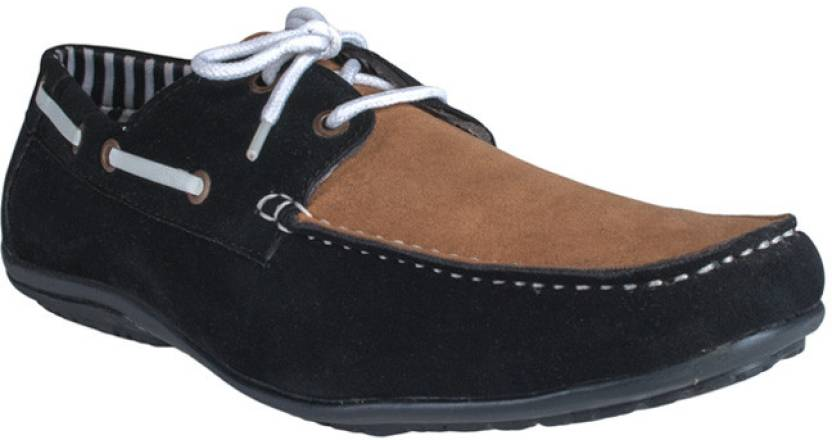31aecce498c Adam Step Black Men Laces Casual Shoes For Men - Buy Brown and Black ...