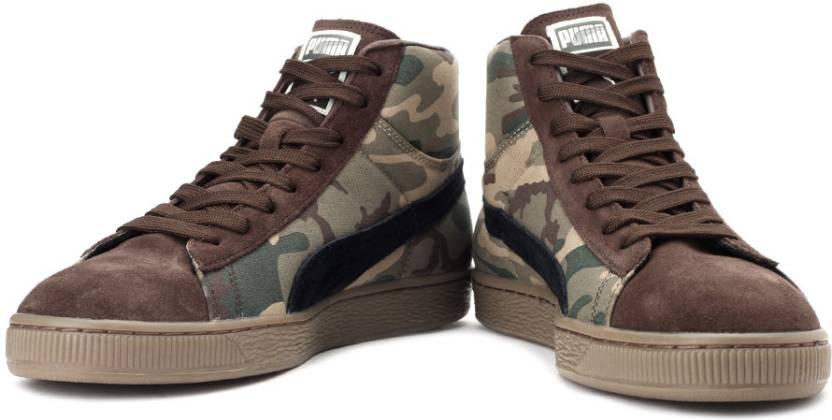 Puma Suede Mid Classic+ Rugged Sneakers For Men - Buy Cornstalk ... 2467fc00e