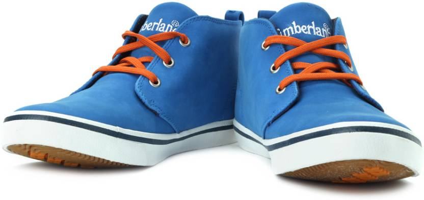 f52b376fd3e Timberland Earthkeeper Hookset Camp Summer Mid Ankle Sneakers For Men  (Blue