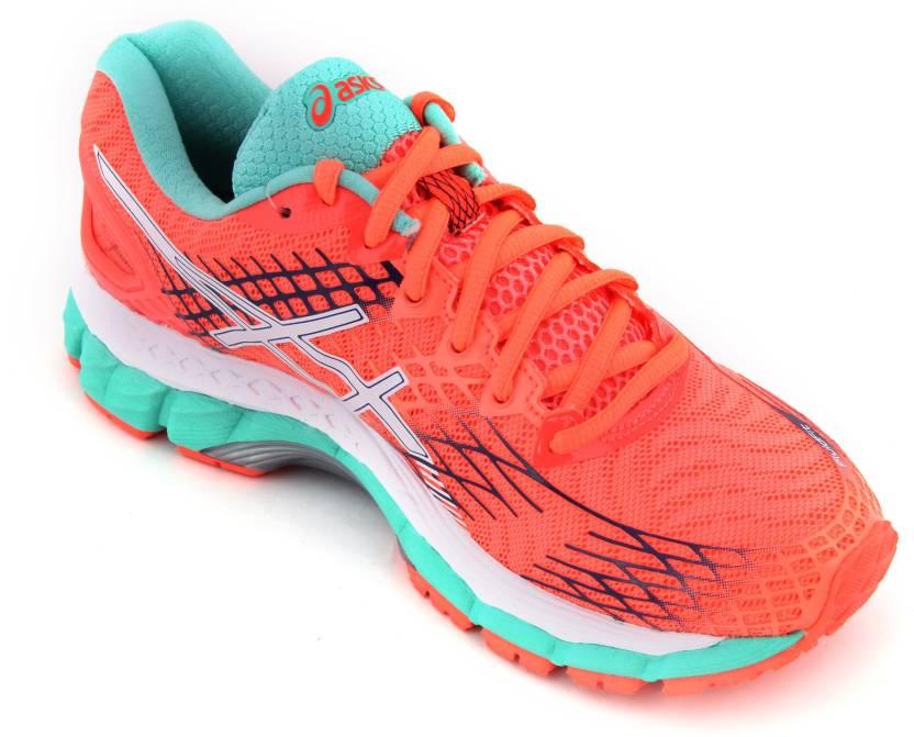 ladies asics gel nimbus running trainers