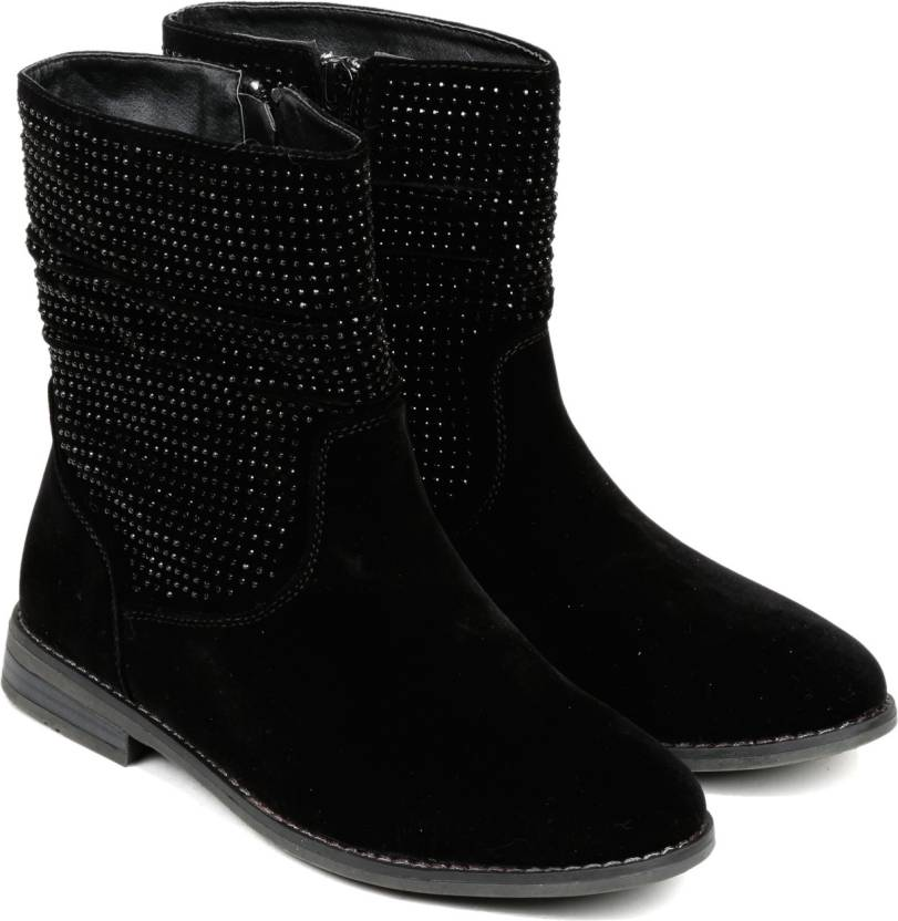 TEN Black Suede Boot :: UGG Boots For Women