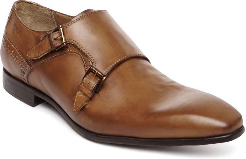 Ruosh Monk Strap Shoes For Men Buy Tan Color Ruosh Monk Strap