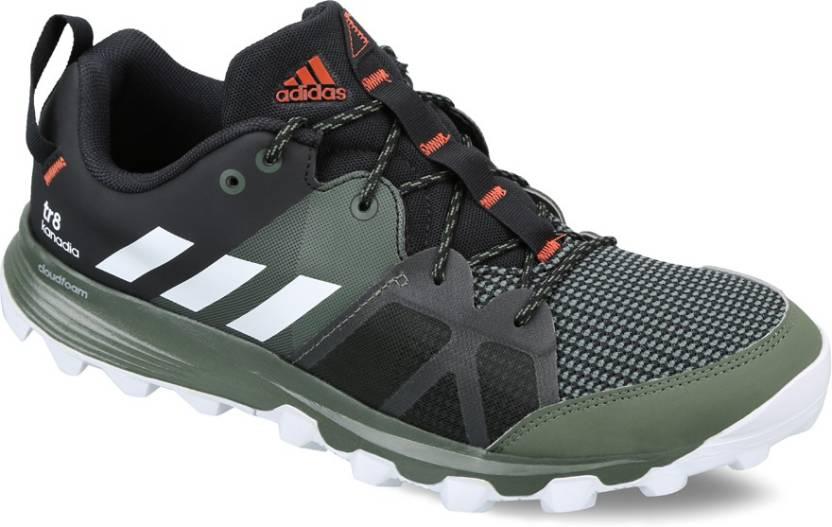 official photos 35266 53448 ADIDAS KANADIA 8 TR M Running Shoes For Men (Black, White)