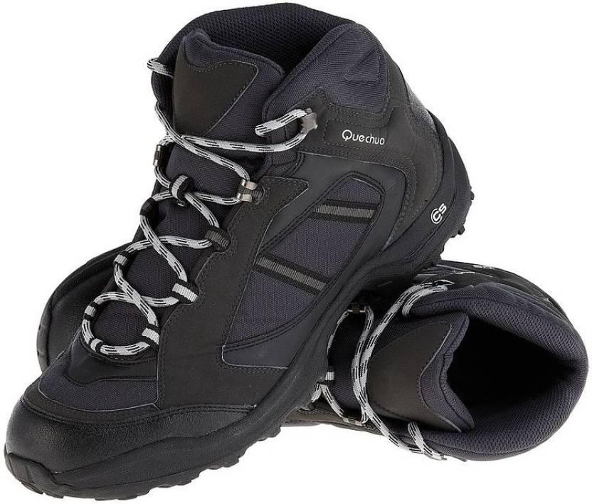 a8a5ed99d3c9f Quechua by Decathlon Forclaz Black Hiking & Trekking Shoes For Men (Black)