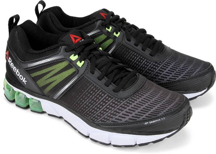 3cc3326ac7c REEBOK JET DASHRIDE 2.0 Running Shoes For Men - Buy BLACK WHITE ...