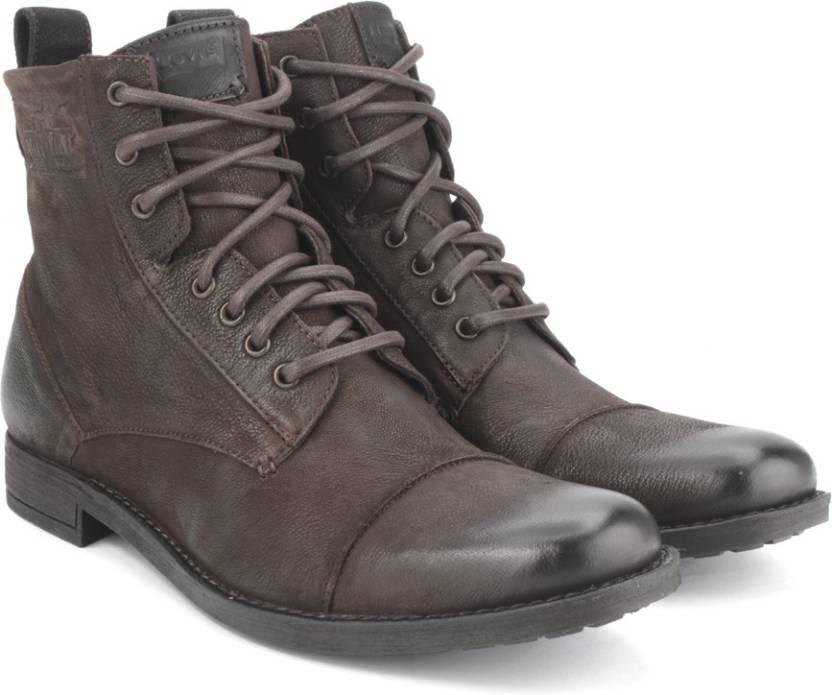 395486f5ebc82 Levi's New York Lace Men Boots For Men - Buy Brown Color Levi's New ...