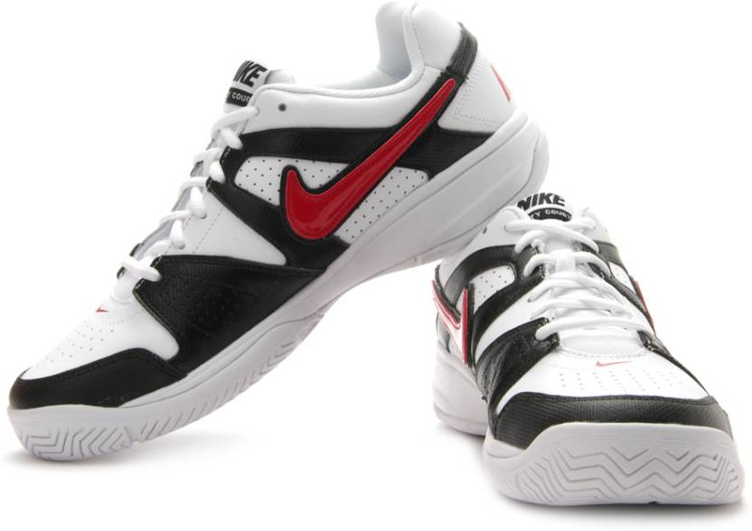 new style 5882c ab453 Nike City Court Vii Tennis Shoes For Men (White, Black, Red)