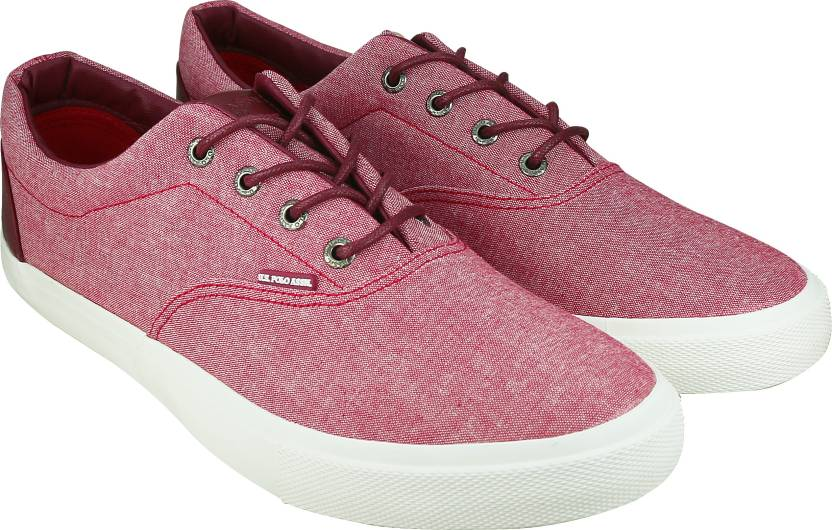1726e4817d3 U.S. Polo Assn CANVAS LACE UP Sneakers For Men - Buy RED Color U.S. ...