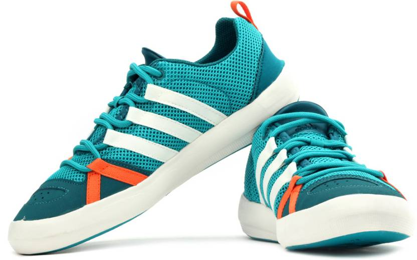 buy online 8bac5 aaf93 ADIDAS Climacool Boat Lace Outdoors Shoes For Men (Green, Orange, White)