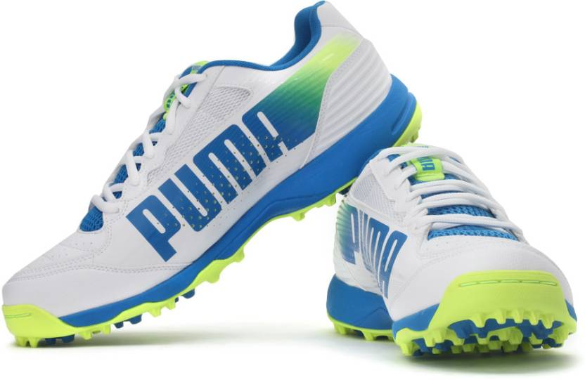 Puma evoSPEED Cricket Rubber 3.2 Football Shoes For Men - Buy White ... 6522d2042