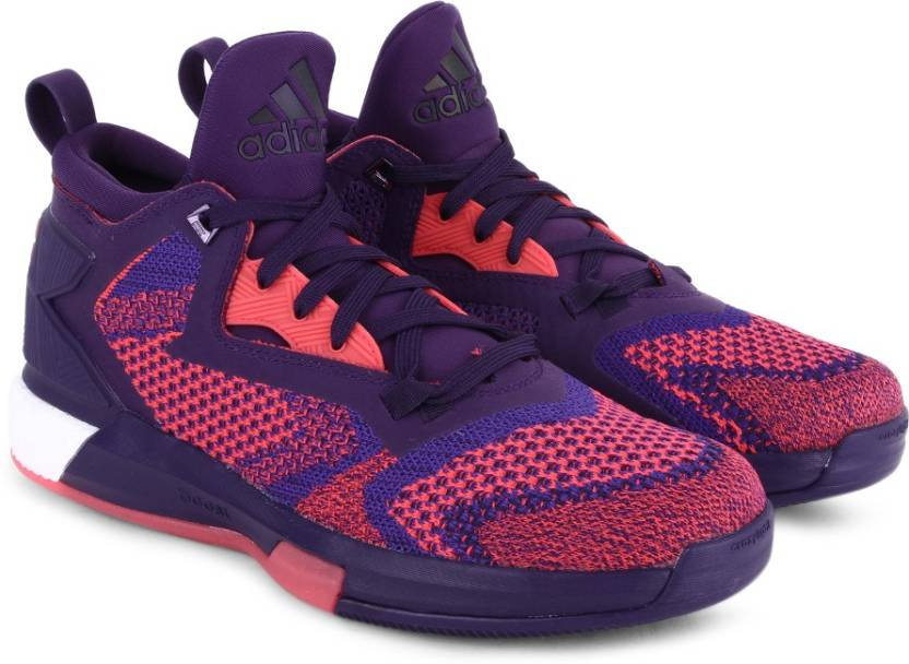 sports shoes b707c db1fe ADIDAS D LILLARD 2 BOOST PRIMEKNIT Men Basketball Shoes For Men (Pink,  Purple)