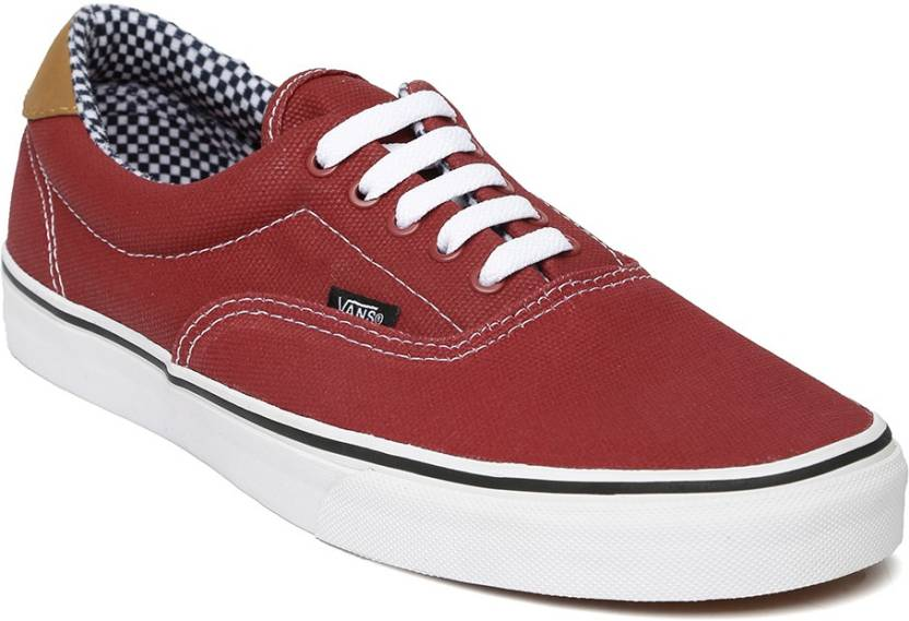 Vans Casual Shoes For Men Buy Maroon Color Vans Casual Shoes For