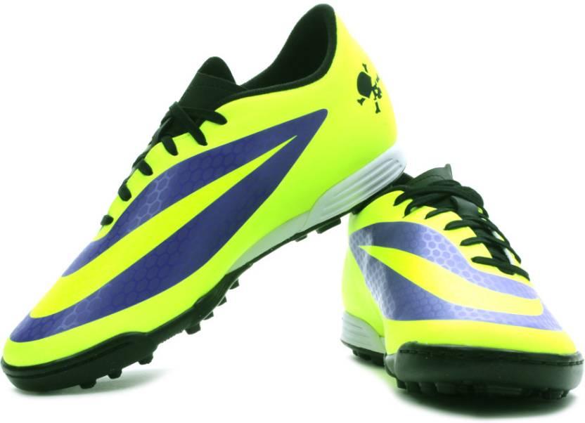 910275fedbe9ae Nike Hypervenom Phade Tf Football Shoes For Men (Purple, Green, Black)