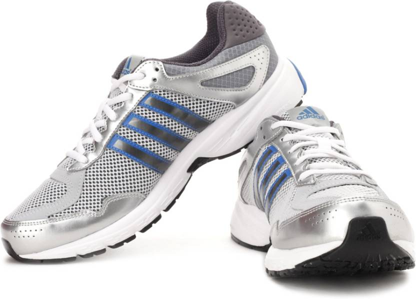 the best attitude 1c892 d6d5b ADIDAS Duramo 5 M Running Shoes For Men (Grey, White, Silver)