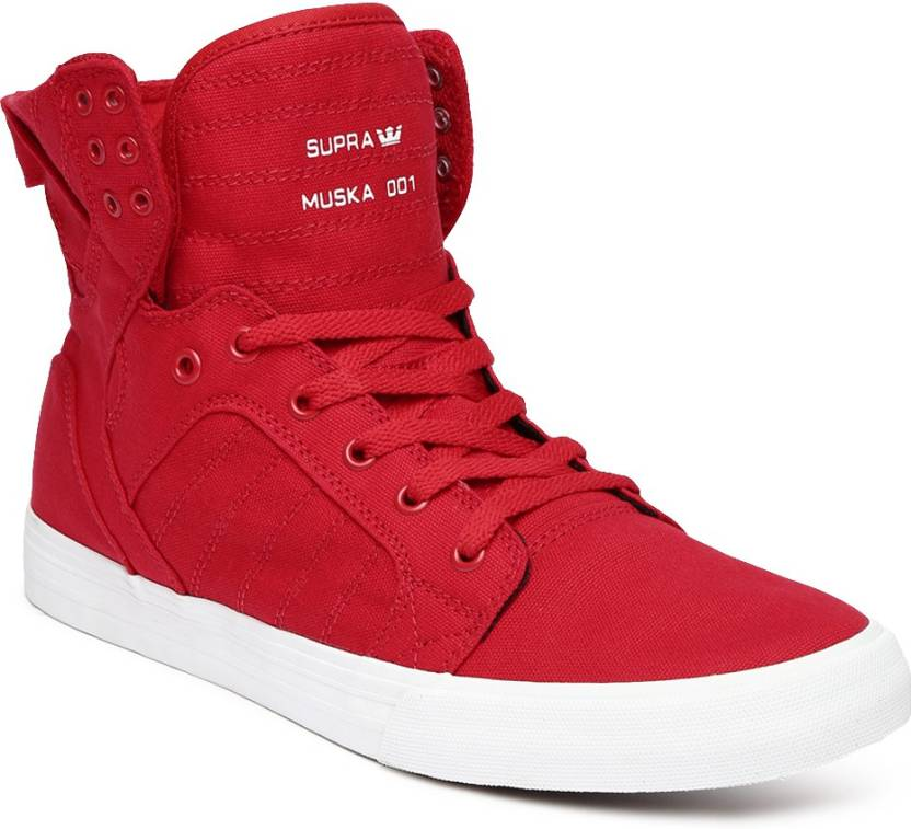 657d55a02127 Supra Sneakers For Men - Buy Red Color Supra Sneakers For Men Online ...