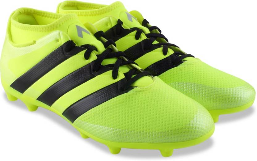 official photos 2e853 8bb92 ADIDAS ACE 16.3 PRIMEMESH FG AG Football Shoes For Men (Black, Yellow)