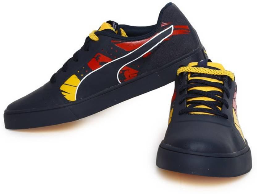 b6fe670b7118 Puma Red Bull RBR WINGS VULC XTREM Motorsport Shoes For Men (Multicolor)