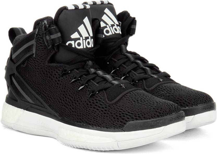 online store 6071b 97179 ADIDAS D ROSE 6 BOOST Men Basketball Shoes For Men (Black, White)