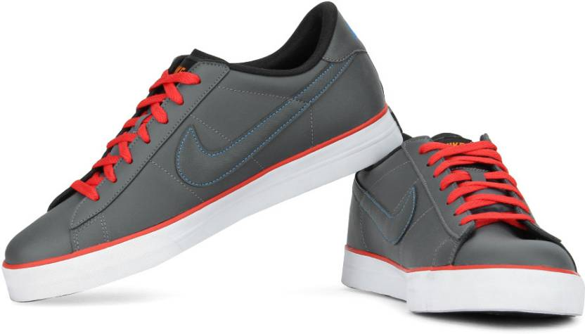 low priced 683f2 378a2 Nike Sweet Classic Leather Sneakers For Men (Red, Grey)