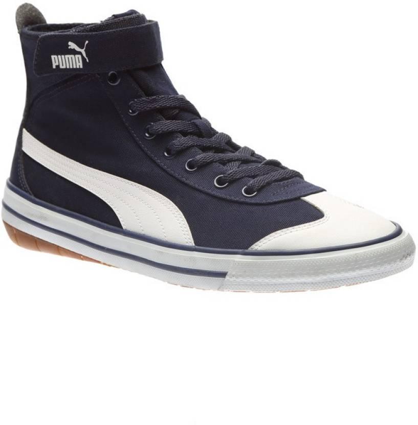 Puma 917 Mid DP Canvas Shoes For Men - Buy Peacoat-Puma White Color ... 894f3a9b8a60