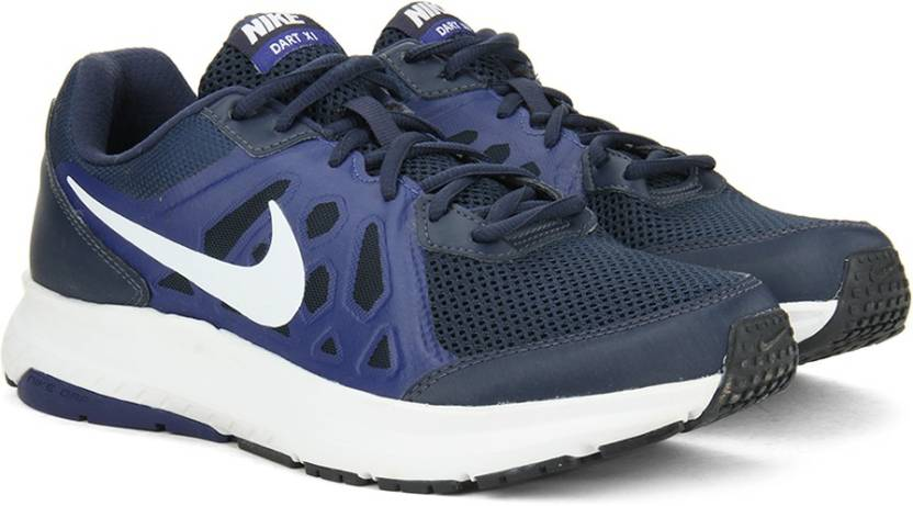 buy popular 64d2f 0b82e Nike DART 11 MSL Running Shoes For Men (White, Blue)