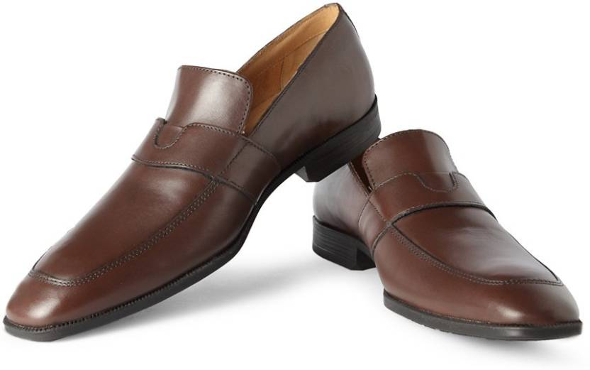 c5a3881ed257 Van Heusen Slip On Shoes For Men - Buy Brown Color Van Heusen Slip ...