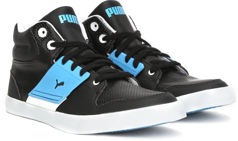 40-80% Off On Footwear By Flipkart | Puma El Ace 2 Mid PN II DP Mid Ankle Sneakers  (Black) @ Rs.2,490