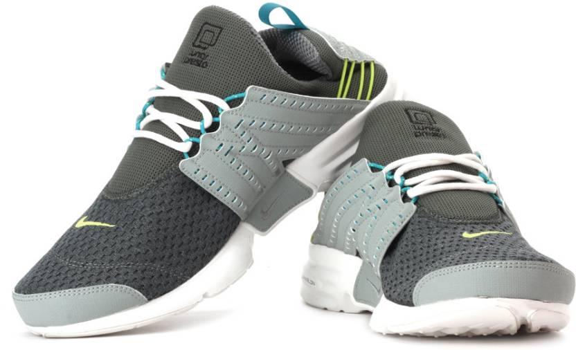 promo code 730dc f0fd9 Nike Lunar Presto Running Shoes For Men (Green, Grey)