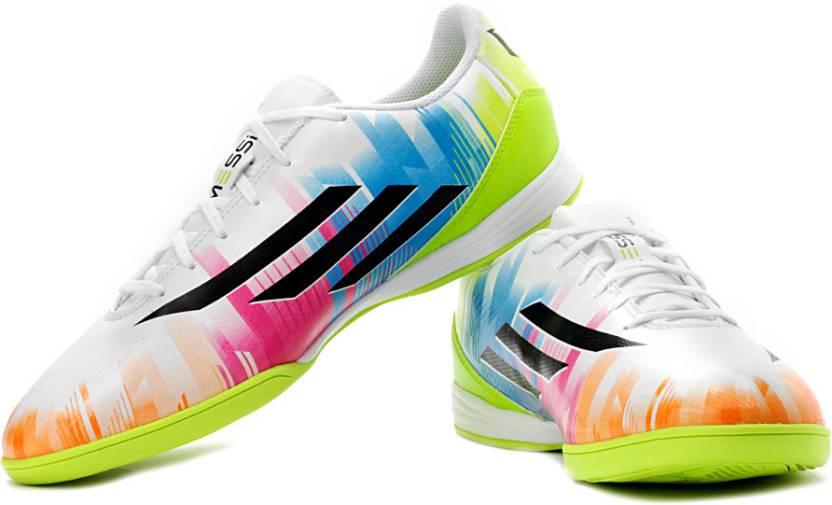 big sale a78f3 828c5 ADIDAS F10 Trx Fg (Messi) Football Studs For Men (Green, Multicolor, White,  Black)