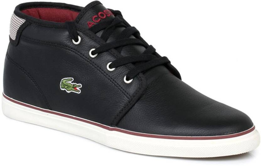 119fb8b799 Lacoste Ampthill Black Trainers Casual Shoes For Men - Buy Black ...