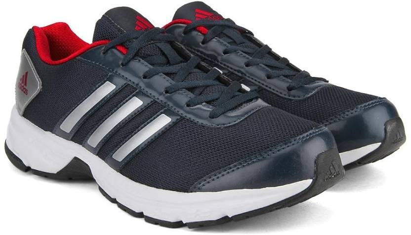 huge discount 5b8de 6d280 ADIDAS ADISONIC M Running Shoes For Men (Navy, Red, Silver)
