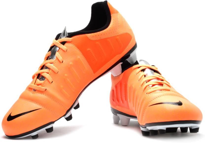 626820441 Nike CTR360 Enganche III FG Football Studs For Men (Silver, Black, Orange)