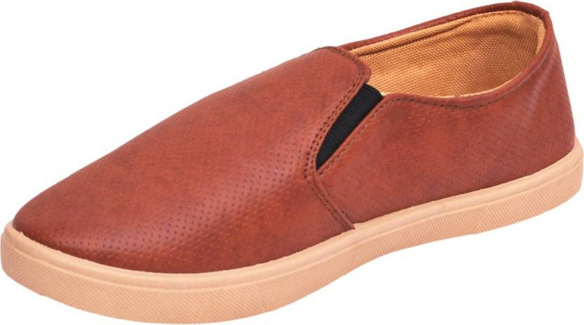 fbb5f586ded De L'amour Casual loafer Shoes For Boys and Girls Loafers For Men (Brown,  Beige)