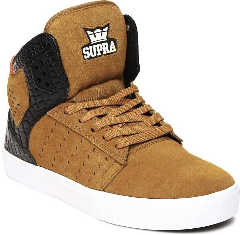 2d1e673c5e Supra Premium Casual Shoes For Men - Buy BROWN/BLACK-WHITE Color ...