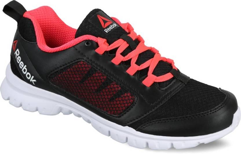 REEBOK RUN STORMER Running Shoes For Women - Buy BLACK NEON CHERRY ... 3f9f4324c
