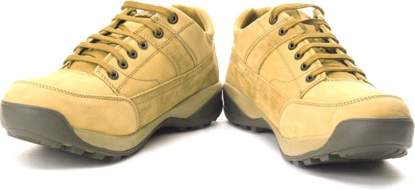 Woodland Men Outdoors Shoes  (Beige) By Flipkart @ Rs.3,367