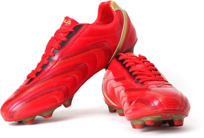 a916337c7f5 Fila Tornado Football Shoes For Men - Buy Red, Black, Gold Color ...