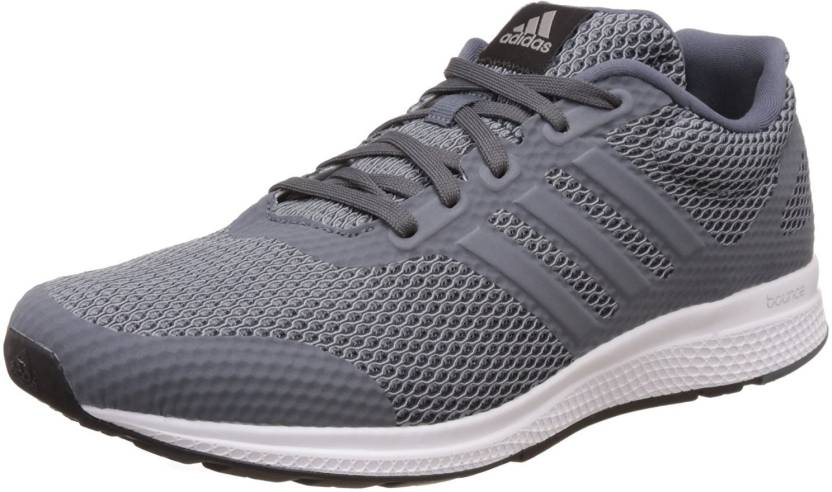 adidas mana fammi rimbalzare, scarpe da corsa per gli uomini comprano grey / silvmt / cblack
