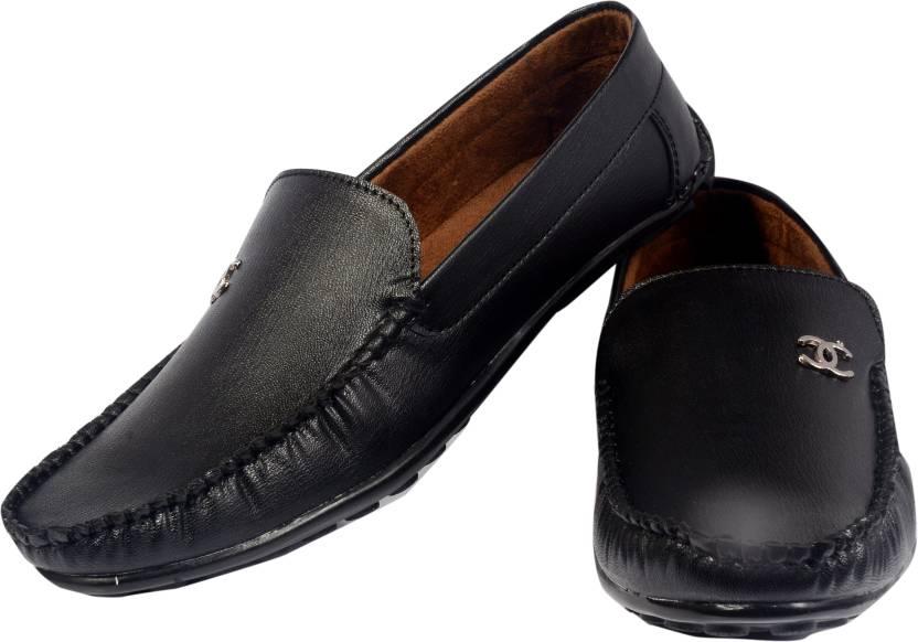 7f5328d9796 kashish Products STYLISH BLACK ULTIMATE Loafers For Men - Buy Black ...