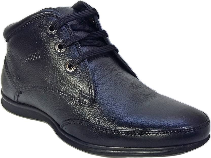 5ae6ec49945a0 Red Chief RC747 Men Black Ankle Derby For Men - Buy Black Color Red ...